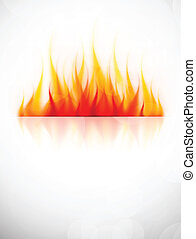 Hintergrund mit Feuer