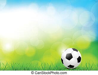 Hintergrund mit Fußball