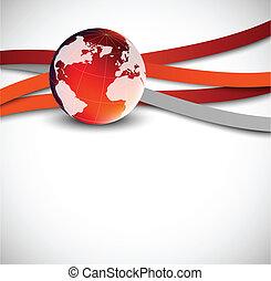 Hintergrund mit Globus