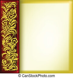 Hintergrund mit goldenem Blumenschmuck entfernen