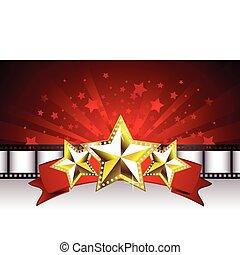 Hintergrund mit goldenen Sternen
