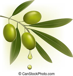 Hintergrund mit grünen Oliven.