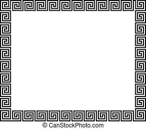 Hintergrund mit griechischem Schmuck