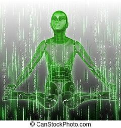 Hintergrund mit Humanoid