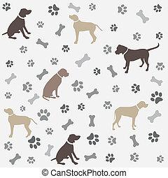 Hintergrund mit Hundepfote.