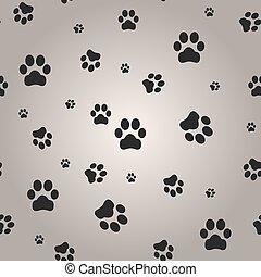 Hintergrund mit Hundepfote. Vector Illustration