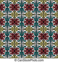 Hintergrund mit nahtlosem Muster im ethnischen Stil