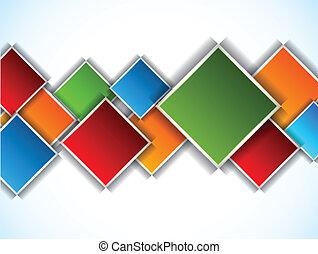 Hintergrund mit Quadraten abbrechen
