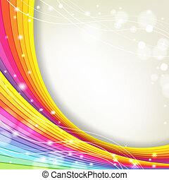 Hintergrund mit Regenbogenfarben und Funkeln