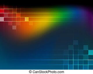 Hintergrund mit Regenbogenwa abbrechen