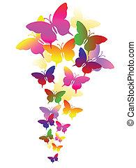 Hintergrund mit Schmetterlingen abbrechen