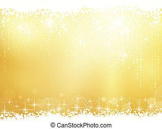 Hintergrund mit Sternen, Schneefällen und Lichteffekten zerstören