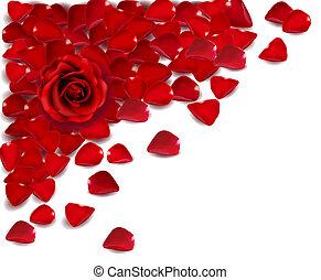 Hintergrund roter Rosenblätter. Vector