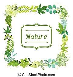 Hintergrund stilisierter grüner Blätter.