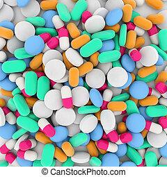 Hintergrund von Drogen.