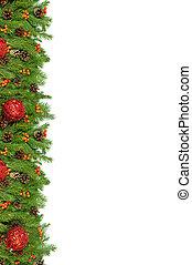 hintergrund., vorabend, weihnachten, rahmen