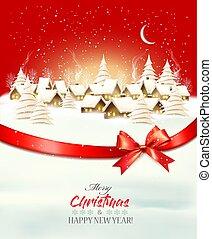 hintergrund, weihnachten, überwintern feiertag