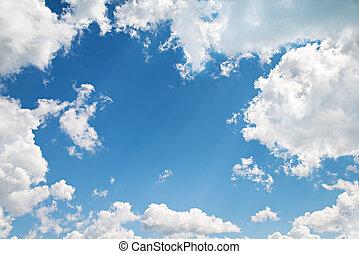 Hintergrund. Wunderschöner blauer Himmel mit Wolken