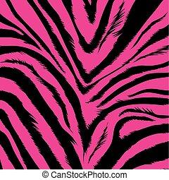 Hintergrund - Zebrafell