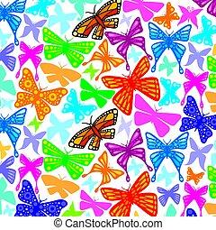 Hintergrundmuster mit Schmetterlingssymbolen.