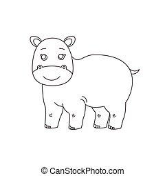 Hippopotamus für Farbbuch