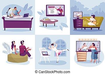 hobby, begriff, online, design