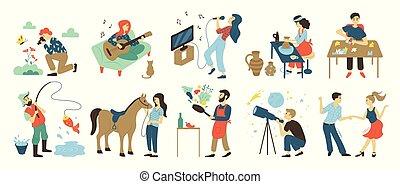 Hobbys und Freizeitaktivitäten, Talente und Fähigkeiten