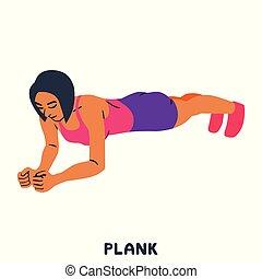 Hoch. Sport exersice. Silhouetten von Frauen, die Sport treiben. Training.