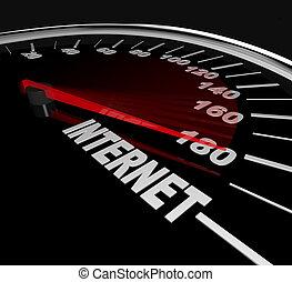 Hochgeschwindigkeitsinternet - Messung des Webverkehrs oder Statistik