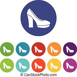 Hochhackige Schuhe haben Ikonen.
