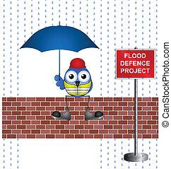 Hochwasserschutzprojekt