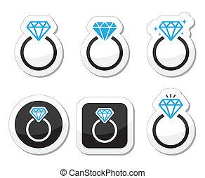 Hochzeit, Diamant Verlobungsring