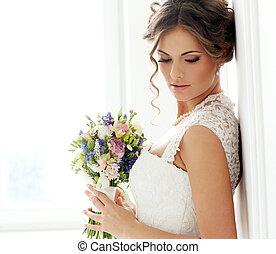Hochzeit. Schöne Braut