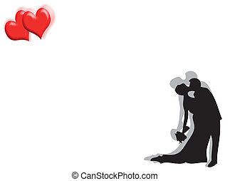 Hochzeit und Herz