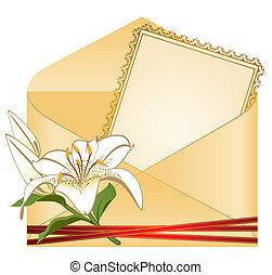 Hochzeits-Hintergrundkarte