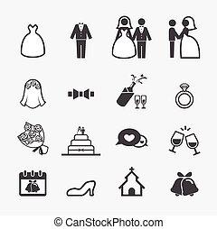 Hochzeits-Ikone.