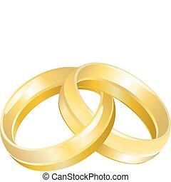 Hochzeitsbands oder Ringe