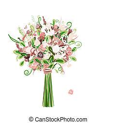 Hochzeitsblumen für Ihr Design.