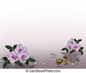 Hochzeitseinladungen von Lavendelrosen