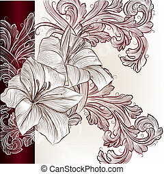 Hochzeitskarte mit Lily