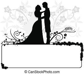 Hochzeitspaar Silhouettes