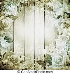 Hochzeitsromantischer Hintergrund mit Rosen