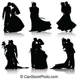 Hochzeitsssilhouette