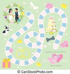 Hochzeitstafel-Spielvorlage