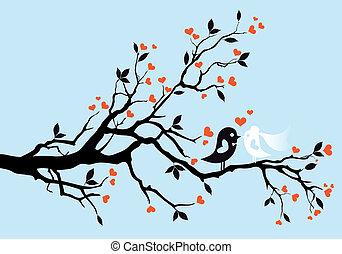Hochzeitsvögel, Vektor