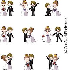 Hochzeitsvorbereitung, Bräutigam und Braut