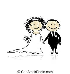 Hochzeitszeremonie - Braut und Bräutigam für euer Design