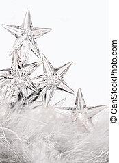 Holiday Star Lichter mit weißem Hintergrund