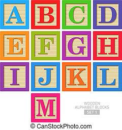 Holz Alphabetblöcke.