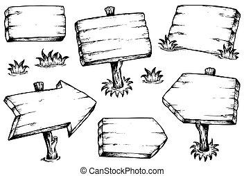 Holzbretter zeichnen Sammlung